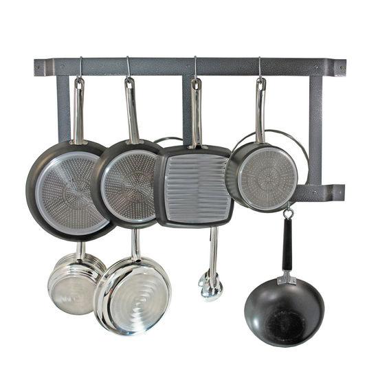 pot racks ultimate wall mounted pot rack by rogar. Black Bedroom Furniture Sets. Home Design Ideas