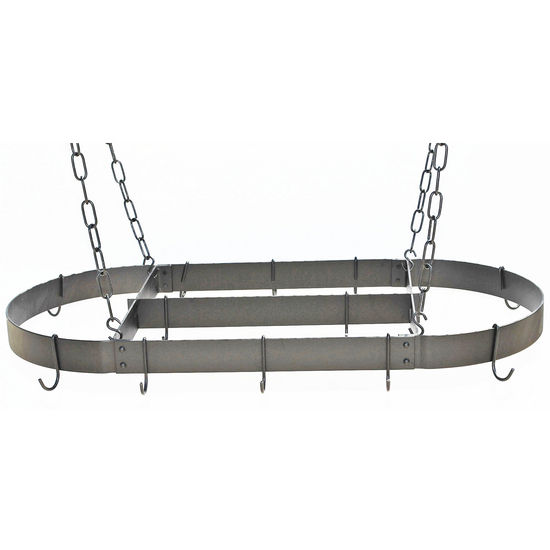 Ceiling Mounted Oval Pot Rack with Centerbar by Rogar