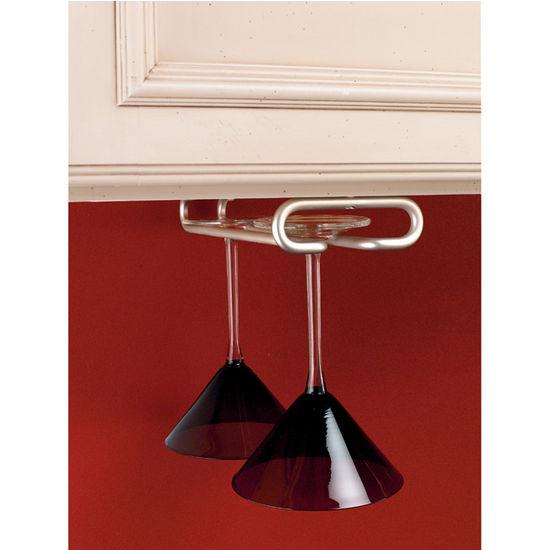 wine glass stemware racks for shelf or under cabinet. Black Bedroom Furniture Sets. Home Design Ideas
