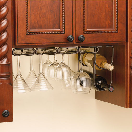 Wine Glass Stemware Racks For Shelf Or Under Cabinet Mounting By Rev