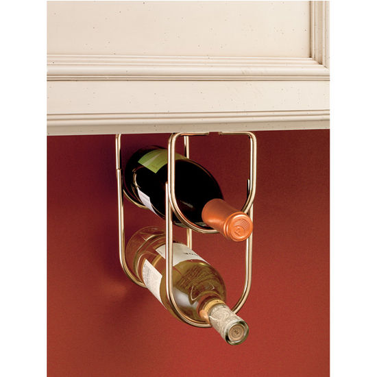 Double Bottle Wine Racks For Ing Under Cabinet Or Shelf By Rev A Kitchensource