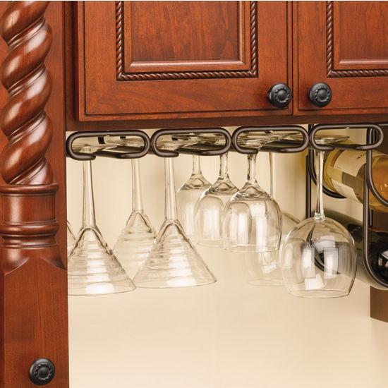 Under Cabinet Or Shelf Mounting Quad Stemware Racks By Rev