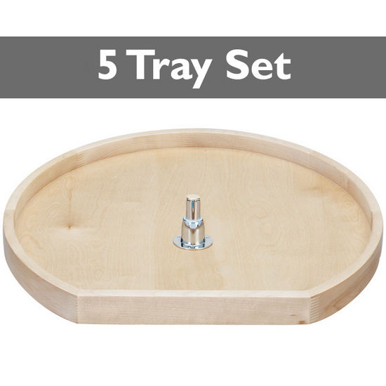 D-Shape Wooden Pantry Sets for Diagonal Corner Pantry