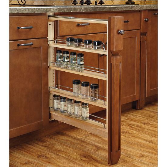 Rev-A-Shelf Kitchen Base Cabinet Fillers with Soft-Close Slides ...