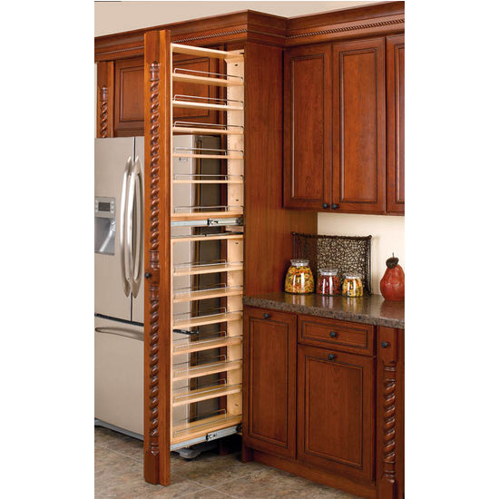 Tall Cabinet Filler Organizers Each Unit Features Adjustable Shelves With Chrome Rails By