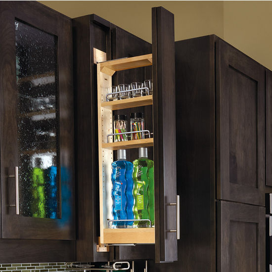 Kitchen Cabinet Accessories - Kitchen Wall Cabinet Filler Pull-Out ...
