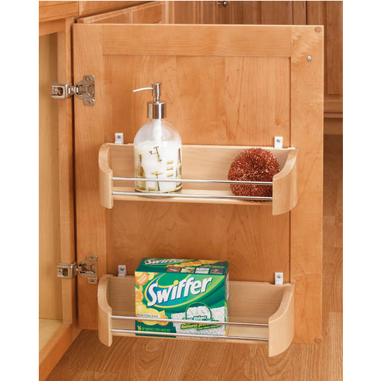 Cabinet organizers wooden door storage trays in 11 39 39 14 for Door organizer