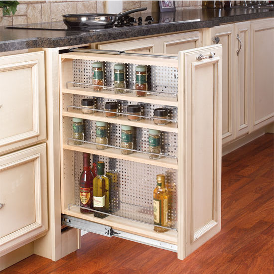 Kitchen Shelves No Cabinets: Rev-A-Shelf Kitchen, Desk Or Vanity Base Cabinet Pullout Organizer W/ Perforated Accessory