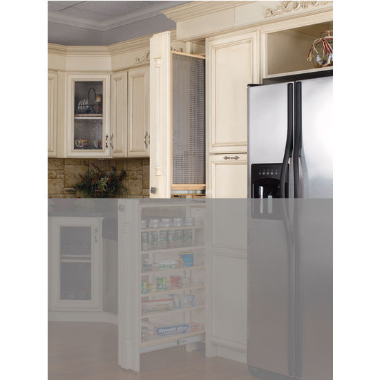 Tall Kitchen Cabinet Filler Organizer With Perforated