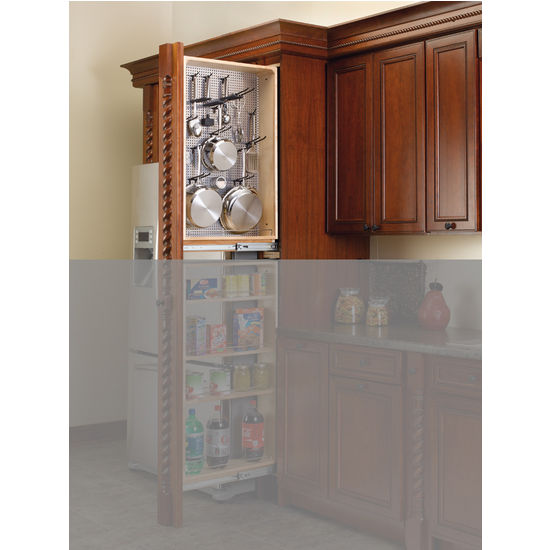 Tall Kitchen Cabinet Filler Organizer With Perforated Accessory