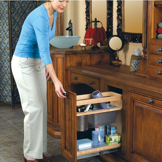 Cabinet Organizers Vanity And Base Cabinet Pull Out Grooming Organizer Bottom Mount Design