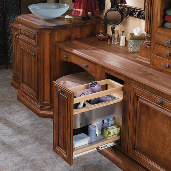 Cabinet organizers vanity and base cabinet pull out - Bathroom vanity with shelf on bottom ...