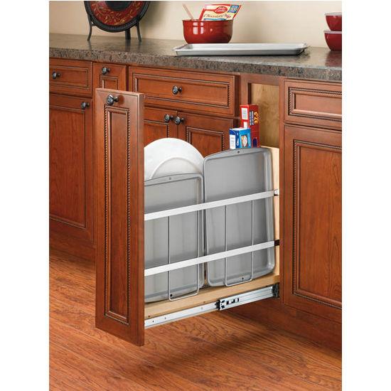 Kitchen Base Cabinet Foil Wrap Holder/Tray Divider