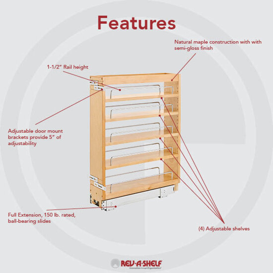 Cabinet organizers adjustable wood pull out organizers for kitchen or vanity base cabinet Bathroom cabinet organizers pull out