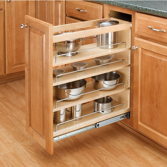 Slide Out Closet Shelves: Adjustable Wood Pull-Out Organizers