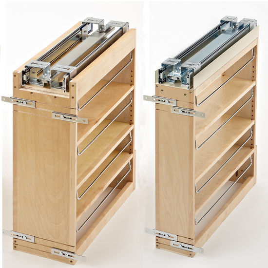 Pull Out Cabinet Base Cabinet Pull Out Shelves Pull Out: Rev-A-Shelf Wood Pull-Out Organizers With Soft-Close Slides For Kitchen Base Cabinet