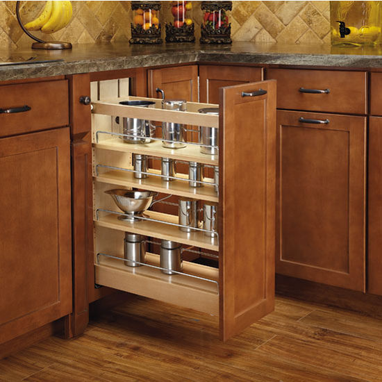 Rev A Shelf Wood Pull Out Organizer With Blumotion Soft