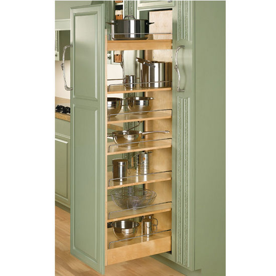 Rev A Shelf Tall Wood Pull Out Pantry With Adjustable Shelves For Kitchen Cabinet With Free