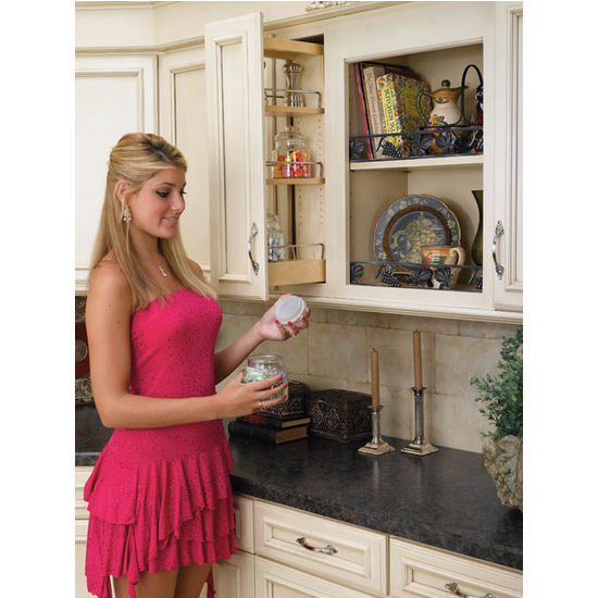 Rev-A-Shelf Kitchen Upper Cabinet Pull-Out Organizer, Available ...