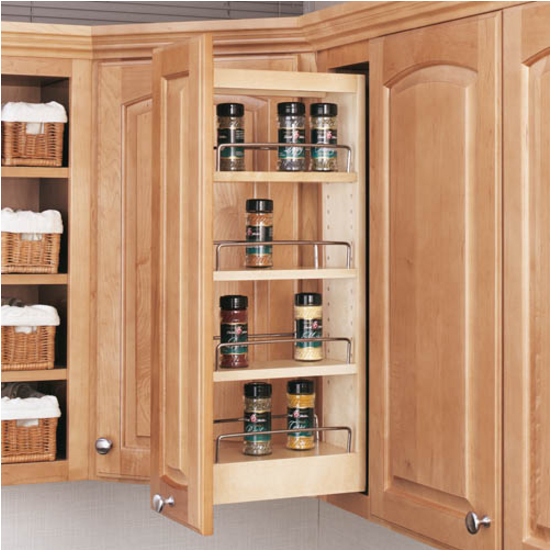 Cabinet shelving cabinet pull out spice rack for Carousel spice racks for kitchen cabinets