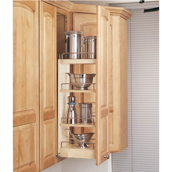 Rev A Shelf Kitchen Upper Cabinet Pull Out Organizer Available With Or Without Soft Close