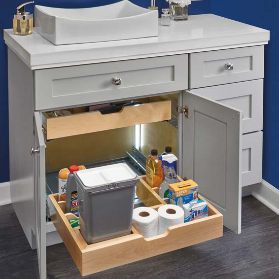 For Bathroomvanity U Shape Under Sink Pullout Organizer With