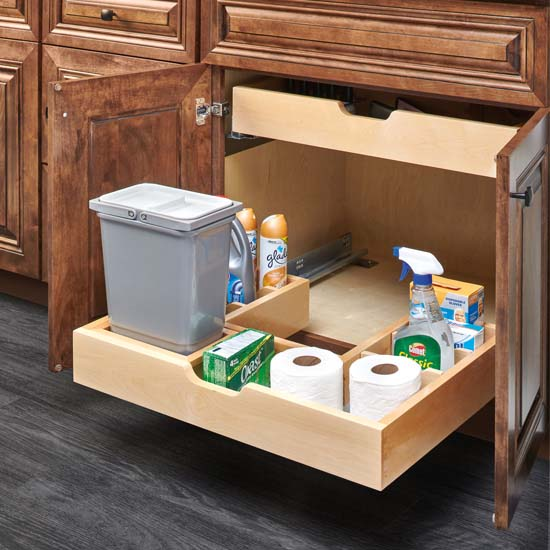 Under Cabinet Drop Down Shelf Hardware: U-Shape Under Sink Pullout Organizer