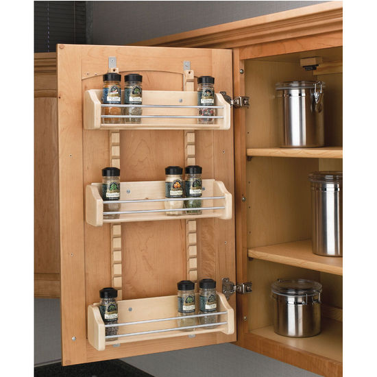 Adjustable Door Mount Spice Rack By Rev A Shelf Cabinet