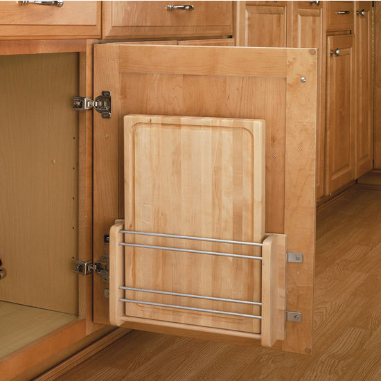 Door Mount Vegetable Oil Treated Cutting Board By Rev A
