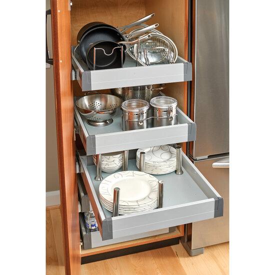 Rev A Shelf Vinyl Peg Board Drawer Organizer System With