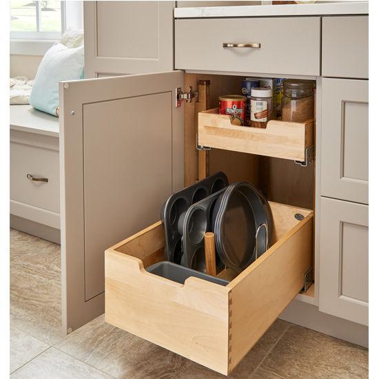 Kitchen Storage Base Cabinet Pullout Adjustable Shelf