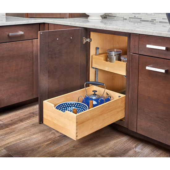 Kitchen Storage Base Cabinet Pullout Adjustable Shelf