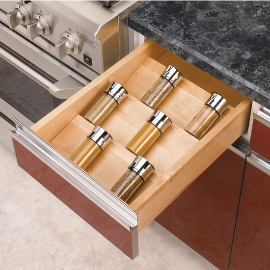 Spice Racks Wood Spice Kitchen Drawer Insert By Rev A