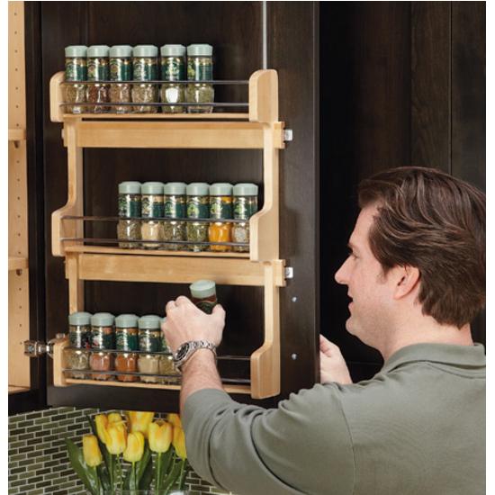 Door Mount Spice Rack By Rev A Shelf Kitchensource Com