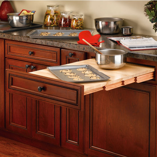 Rev-A-Shelf Wood Pull Out Table For Kitchen Or Desk