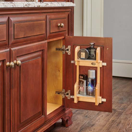 Rev A Shelf Vanity Door Mounted Organizational Storage Rack