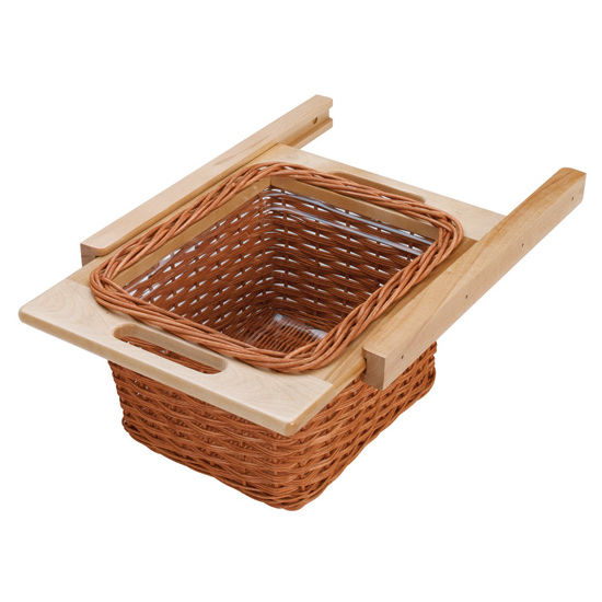 Cabinet organizers kitchen cabinet organizers by hafele for Baskets for kitchen cabinets