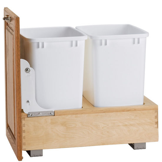 Bottom Mount Pull-Out Double Bin Waste Container
