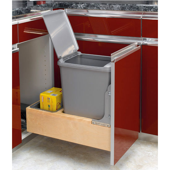 Single Waste Bin w/Rev-A-Motion Slides