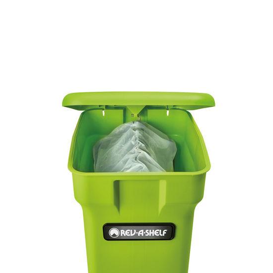 bottom mount double trash bin pull