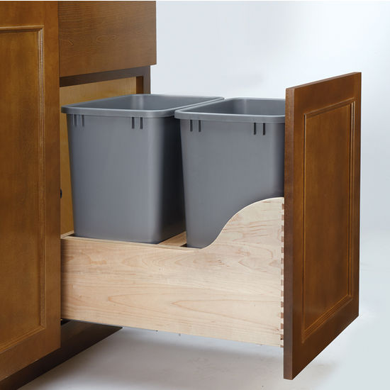 Double Soft-Close w/Tandem Heavy Duty Slides Waste Containers