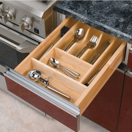 Rev-A-Shelf Wood Cutlery Tray Drawer