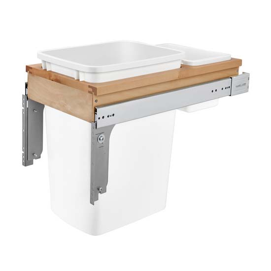 Wood Top Mount Waste Container