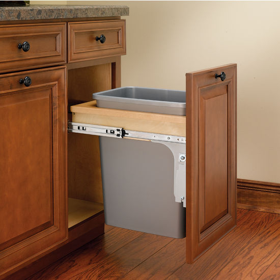 Rev A Shelf Top Mount Pull Out Waste Bins For Framed