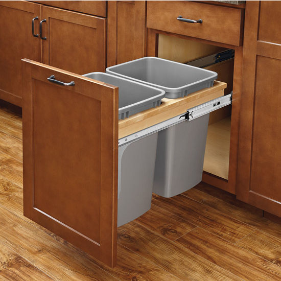 Soft Close Wood Top Mount Waste Container