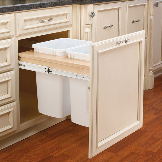 kitchen trash cabinet pull out rev a shelf pull out waste bins for framed cabinet 8674