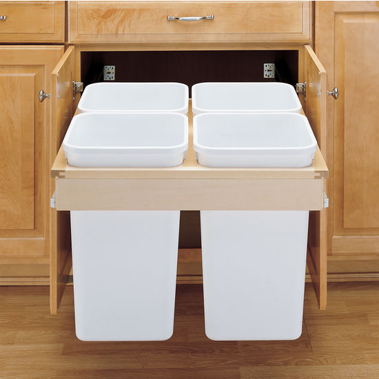 Rev-A-Shelf Pull-Out Top Mount Waste & Recycling Bins - 4 ...