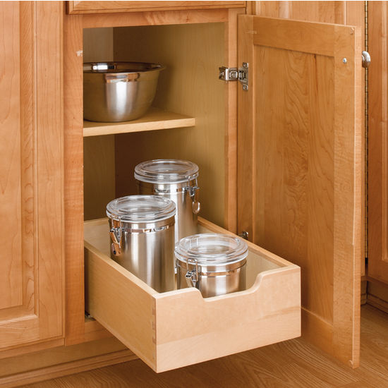 Kitchen Base Cabinet Wood Pull-Out Drawers w/ 3/4'' Extension Euro ...