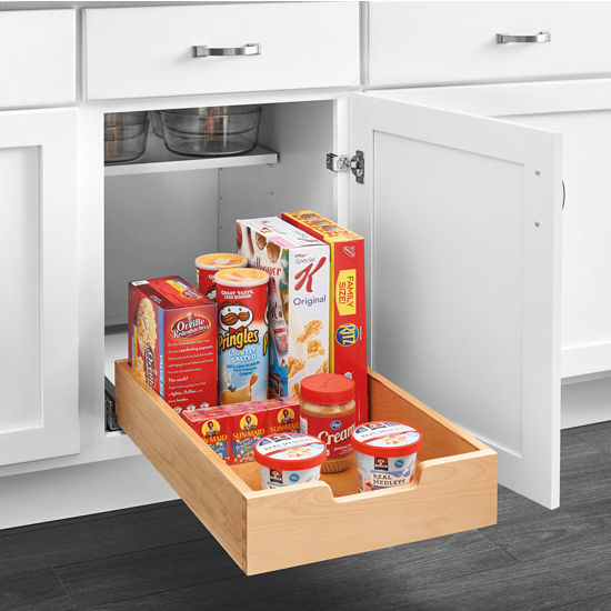 Rev A Shelf Single Wood Bottom Mount Pullout Standard Drawer