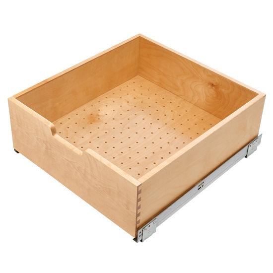 Kitchen Storage Single Wood Bottom Mount Pullout Drawer